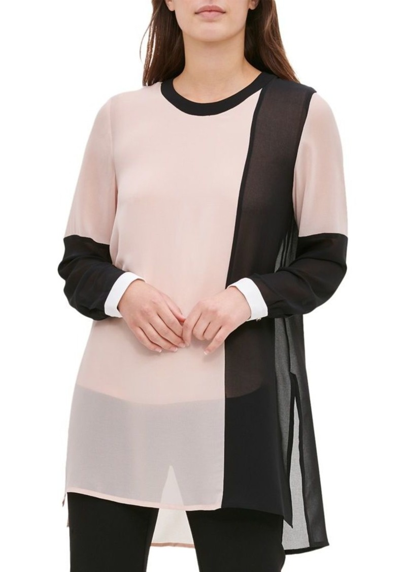 Calvin Klein Colorblock HIgh-Low Tunic