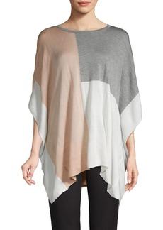 Calvin Klein Colorblock Knit Poncho