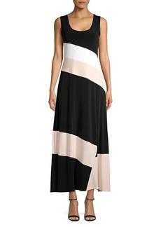 Calvin Klein Colorblock Long Shift Dress