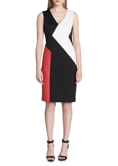 Colorblock Panel Sheath Dress