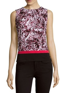 Calvin Klein Colorblock Printed Top