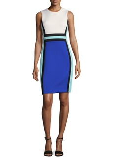 Colorblock Roundneck Shift Dress