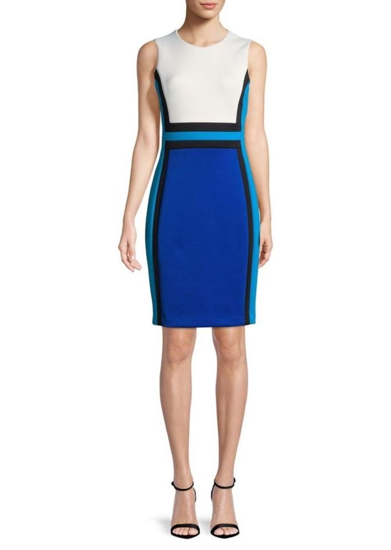 166bb27ac971 Calvin Klein Calvin Klein Colorblock Sleeveless Sheath Dress