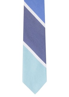 Calvin Klein Colorblock Striped Silk-Blend Tie