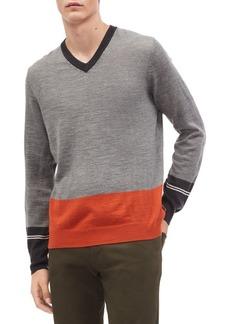 Calvin Klein Colorblock V-Neck Sweater