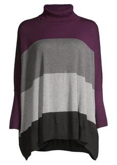 Calvin Klein Colorblock Waterfall Turtleneck Sweater