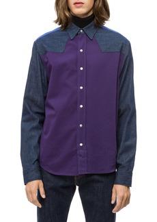 Calvin Klein Colorblock Western Shirt