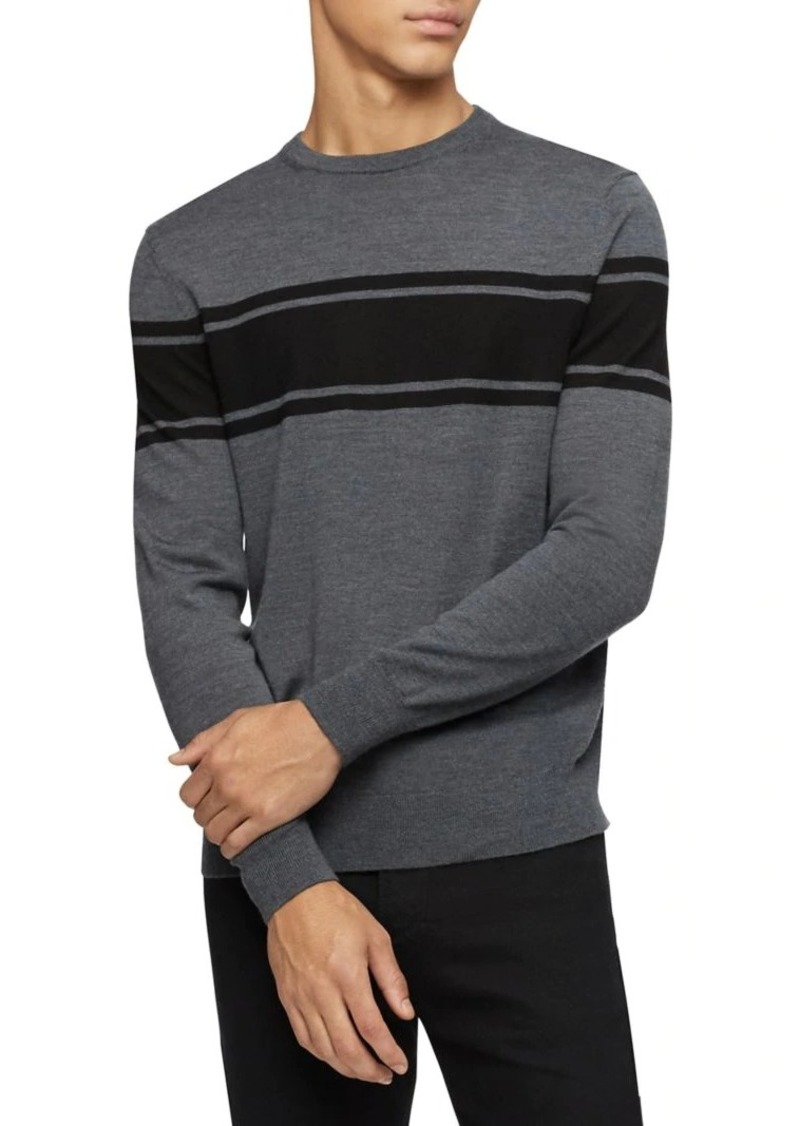 Calvin Klein Colorblock Wool-Blend Sweater