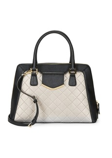 CALVIN KLEIN Colorblocked Dome Satchel