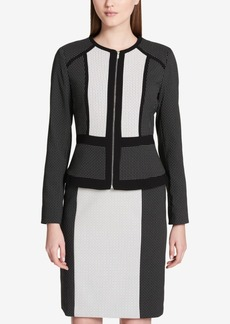Calvin Klein Colorblocked Jacquard Jacket, Regular & Petite