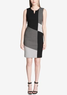 Calvin Klein Colorblocked Keyhole Dress