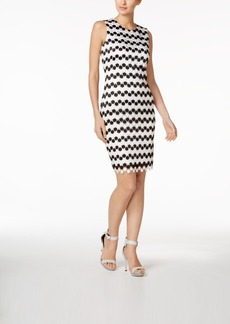Calvin Klein Colorblocked Lace Sheath Dress