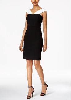 Calvin Klein Colorblocked Off-The-Shoulder Dress
