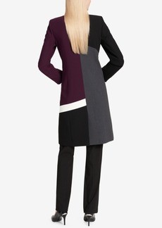 Calvin Klein Colorblocked Open-Front Lux Topper Jacket