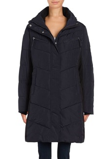 Calvin Klein Colorblocked Puffer Coat