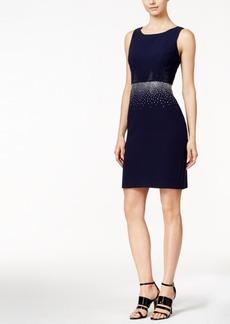 Calvin Klein Colorblocked Rhinestone Sheath Dress