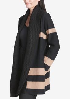 Calvin Klein Colorblocked Rib-Trim Cardigan