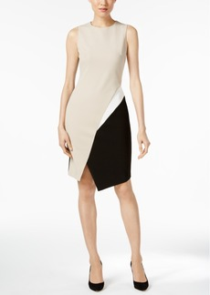 Calvin Klein Colorblocked Scuba Crepe Dress