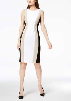 Calvin Klein Colorblocked Sheath Dress, Regular & Petite