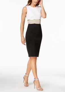 Calvin Klein Metallic Colorblocked Sheath Dress