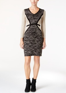 Calvin Klein Colorblocked Sweater Dress