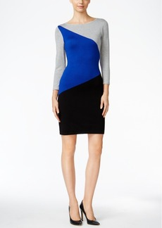 Calvin Klein Colorblocked Sweater Dress