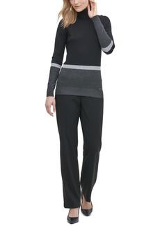 Calvin Klein Colorblocked Turtleneck Sweater