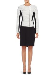 CALVIN KLEIN Colorblocked Tweed Jacket