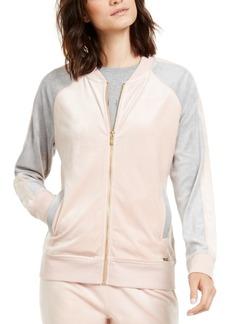 Calvin Klein Colorblocked Velour Zip-Up Jacket