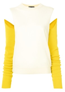 Calvin Klein colour block cut out sweater