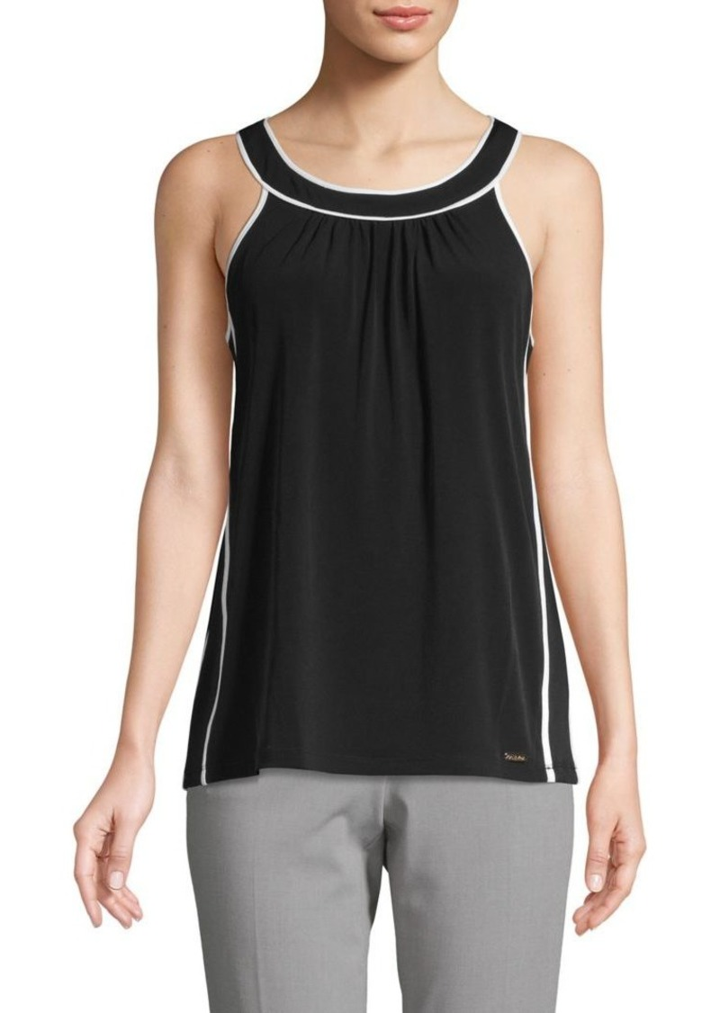 Calvin Klein Contrast Sleeveless Top