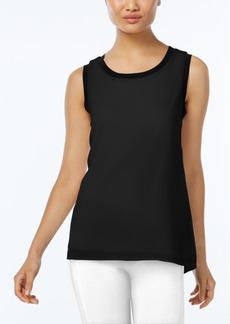Calvin Klein Contrast-Trim Chiffon Top
