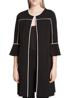 Calvin Klein Contrast-Trim Duster Jacket