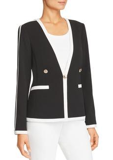 Calvin Klein Contrast-Trim Single-Button Blazer