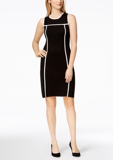 Calvin Klein Contrast-Trim Sweater Dress