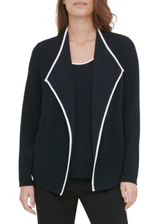 Calvin Klein Contrast-Trimmed Open Cardigan