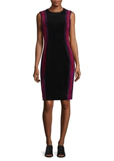 Calvin Klein Contrasting Panel Sheath Dress