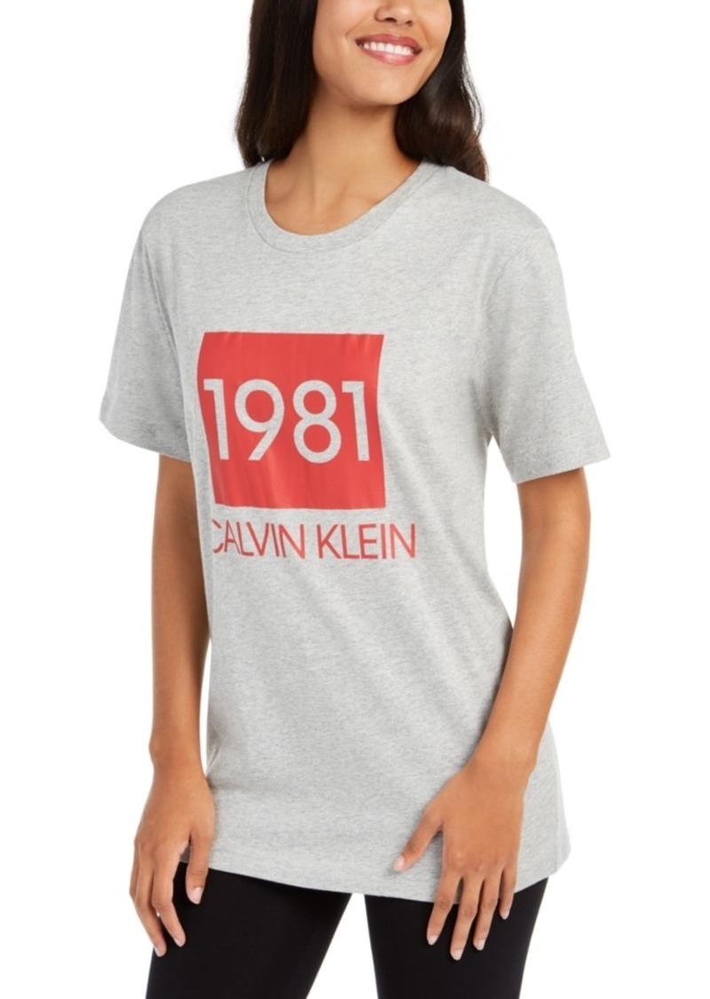 Calvin Klein Cotton 1981 Bold Lounge Sleep T-Shirt