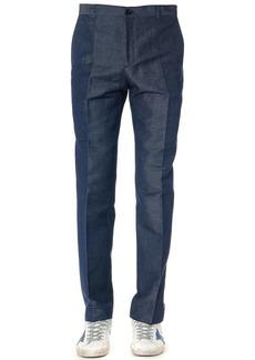 Calvin Klein Cotton Blend Denim Color Trousers
