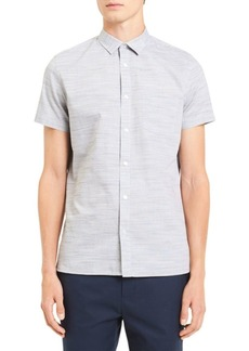 Calvin Klein Short-Sleeve Slub Cotton Shirt