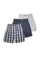 Calvin Klein Cotton Classics Woven Boxers, Pack of 3