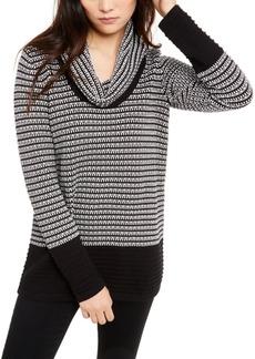 Calvin Klein Cotton Mixed-Stitch Cowlneck Sweater