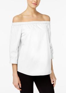Calvin Klein Cotton Off-The-Shoulder Top