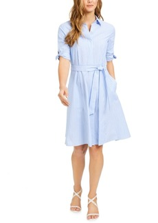 Calvin Klein Cotton Striped Shirtdress