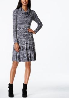 Calvin Klein Cowl-Neck Marled Sweater Dress