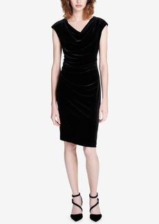 Calvin Klein Cowl-Neck Ruched Dress