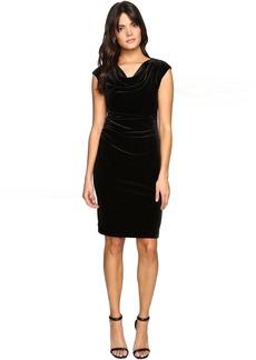 Calvin Klein Cowl Neck Velvet Dress