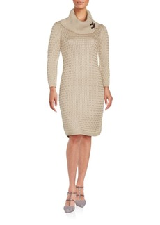 Calvin Klein Cowlneck Sweater Sheath Dress