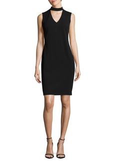 Calvin Klein Crepe Choker Dress