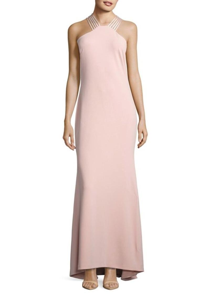 Calvin Klein Calvin Klein Crepe Halter Gown Dresses